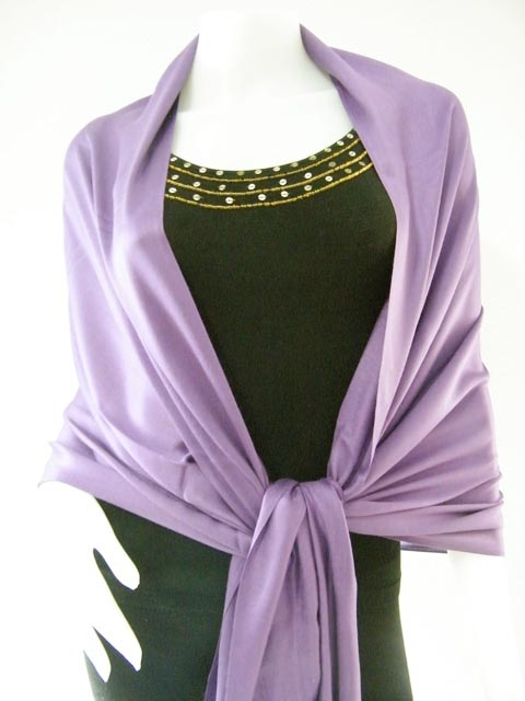 Light purple Solid Pashmina Shawl