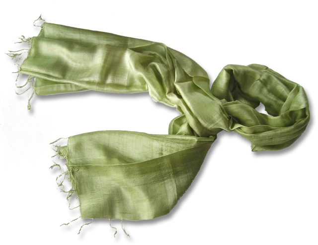 Lime Pure Silk scarf