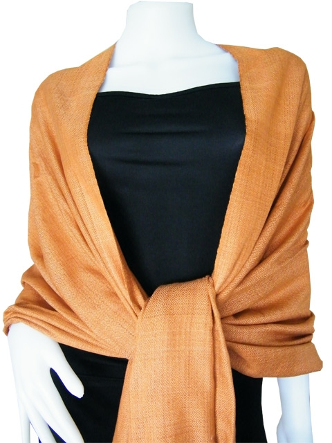 Golden Brown Pure Cotton Shawls