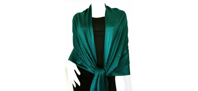 Sea Green Solid Pashmina Shawl