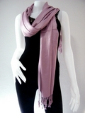 Antique Pink Solid Pashmina Shawl
