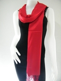 Red Solid Pashmina Shawl
